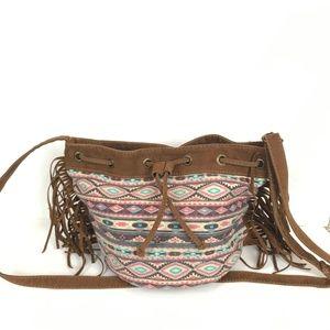 Talia Fringe Bucket Bag by Tossa